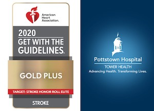 Get with Guideline award and logo for Pottstown Hospital