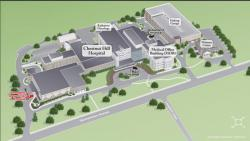 Image of Chestnut Hill Hospital's campus map