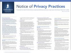 Notice of privacy practices document