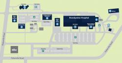 Brandywine Hospital campus map.