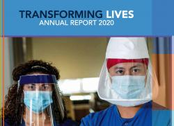 Annual Report-Reading Hospital Foundation PDF cover of two medical professionals wearing masks